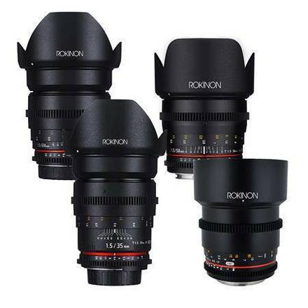 Rokinon (Pick any 2)Cine Prime Lens Package 24, 35, 50, 85mm