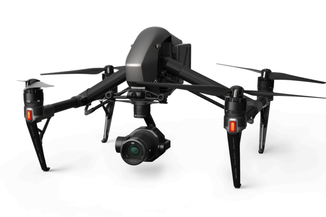 DJI Inspire 2 Quadcopter and X7 camera with pilot