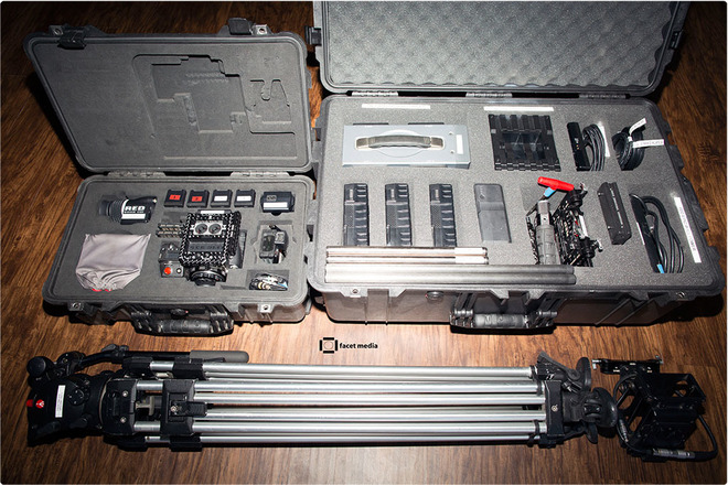 RED Dragon, Full Package: lenses, tripod, handheld rig