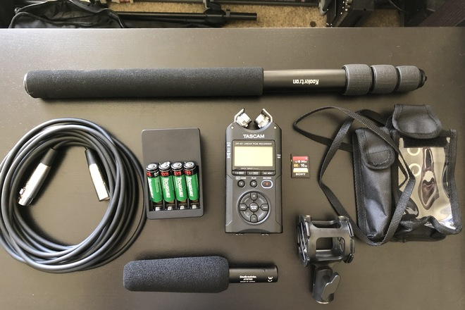 Audio Technica AT875R & TASCAM DR-40 Package