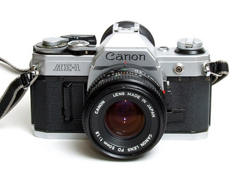Rent: Canon AE-1 SLR 35mm Film camera (FD, Stills) 1976