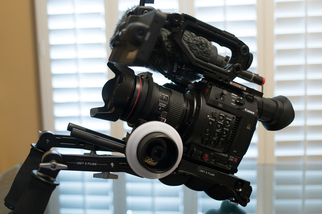 Rent a Canon EOS C200 - Ultimate Ergo handheld setup with lens | ShareGrid  Los Angeles