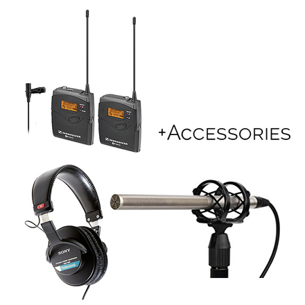 Interview Audio Kit, Sennheiser Lav, Rode Shotgun, Boom