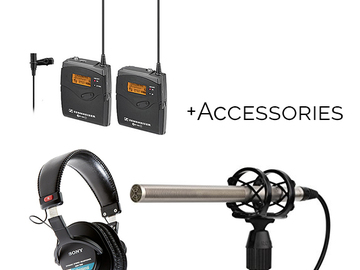 Rent: Interview Audio Kit, Sennheiser Lav, Rode Shotgun, Boom