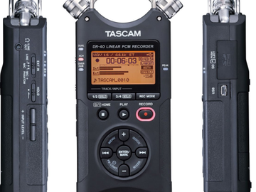 Tascam DR-40 Handheld Audio Recorder