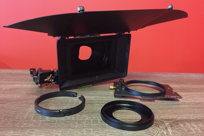Bright Tangerine Misfit 15mm Swing Away Mattebox w/ 3 Stages