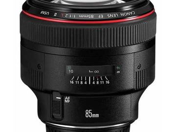Rent: Canon EF 85mm f/1.2 L II USM