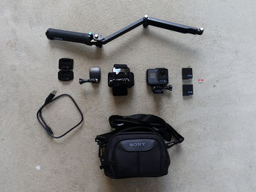 Rent: GoPro HERO6 Black, 2 Batteries, 64GB Card, Accessories, Bag