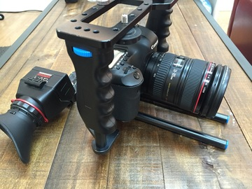 Rent: Canon 5D MK iii (3) with 24-105mm lens, cage & viewfinder