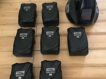 Rent: Set of 7 Anton Bauer Digital 90 V-Mount w/ charger