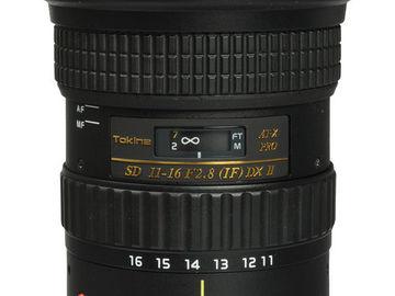 Rent: TOKINA 11-16mm f/2.8 Zoom Lens EF Mount