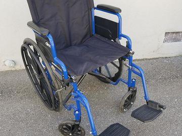 Rent: Wheel Chair (Black & Blue)