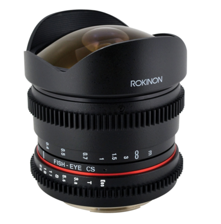 Rokinon 8mm T/3.8 Fisheye Cine Lens (Canon EF)