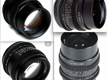 Rent: SLR Magic Sony E Mount Cine Lens Set (25,35,50 and 75mm)