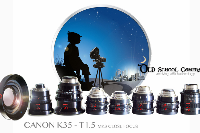 CANON K35 - T1.5 (5 LENS SET + 4 Add-Ons)