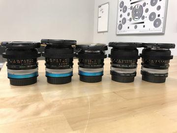 """Rent: Canon Vintage FD SSC """"Cine"""" 5  Lens Set (EF and E) Pick 1"""