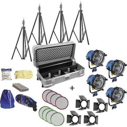 ARRI ARRILITE 1000W Open Face 4-light light kit w/Chimeras