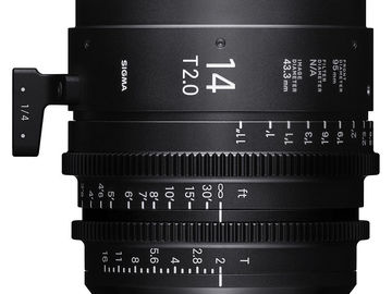 Rent: Sigma 14mm T2.0 Cine Prime (PL)