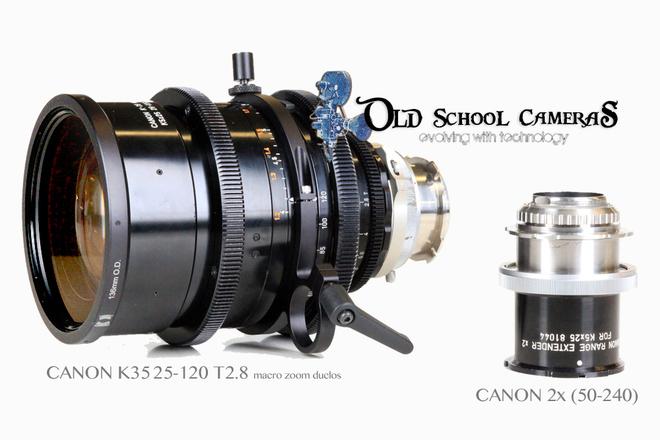 CANON 25-120 K35 MACRO T2.8  (2x extender (50-240) DUCLOS