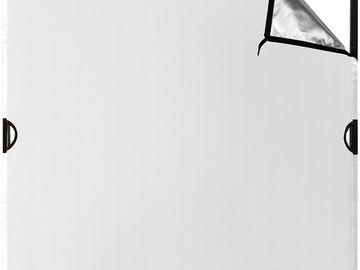 Rent: Westcott Scrim Jim Cine Silver/White Bounce Fabric (4 x 4')