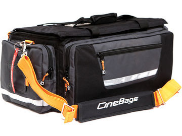 Rent: CineBags CB-01A Production Bag (Black and Gray with Orange W