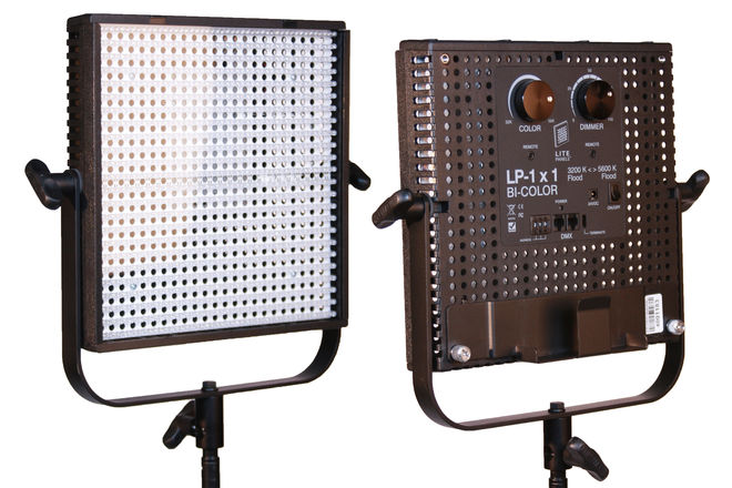 2 x LitePanels BiColor Dimmable 1x1 LED