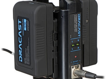 Rent: 4x Dracast V-Mount  Batteries with Dual Charger