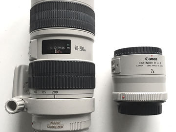 Rent: Canon EF 70-200mm f/2.8 L IS USM + Canon Extender 2X