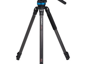 Rent: Carbon Fiber Benro C373F Series 3 CF Video Tripod & S8 Head