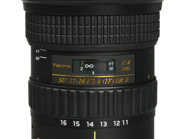 Rent: Tokina AT-X 116 PRO DX-II 11-16mm f/2.8 Lens for Canon EF