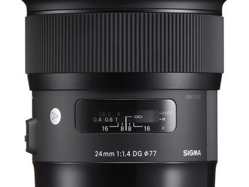 Rent: Sigma 24mm f/1.4 DG HSM Art Lens for Canon EF