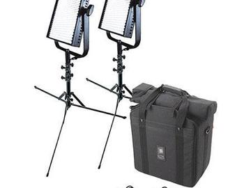 Rent: Set of (2) 1x1 litepanels kit w/stands and batteries.
