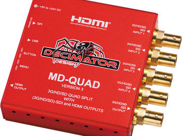 Rent: DECIMATOR QUAD 3G-HD/SD-SDI Quad Split