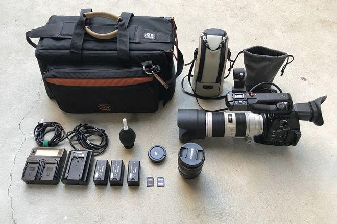 Canon C100 MKII w/ 24-70 f/2.8 ii, 70-200mm f/2.8L IS II USM