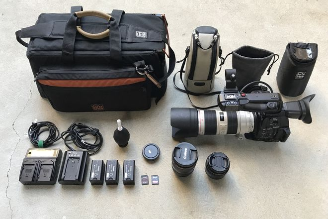 Canon C100 MKII, 16-35 f/2.8L II, 24-70 II, 70-200 f/2.8L II
