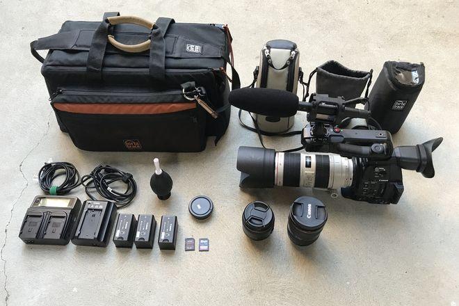 Canon C100 MKII, 16-35 2.8L II, 24-70ii, 70-200 2.8L II, Mic
