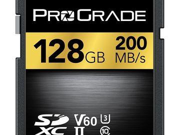 Rent: 2x 128GB Lexar Professional 200MB/s SDHC /SDXC UHS-II Cards