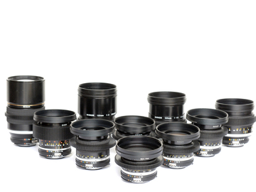 Rent: NIKON - NIKKOR 10 LENS SET - SUPER SPEEDS