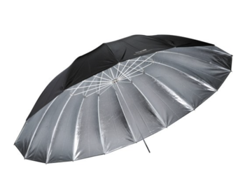 Rent: Impact 7' Parabolic Umbrella (Silver) with diffuser