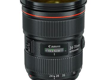 Rent: Canon L Series Zoom Lens Set (16-35, 24-70, 70-200)