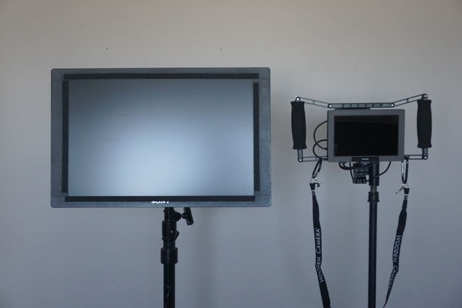 "Wireless Monitor Pkg: Paralinx Ace + 20"" Client + 7"" Clam"