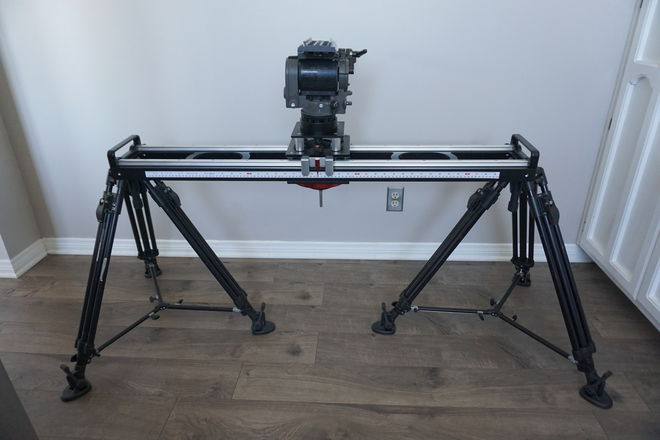 Proaim Flyking 4' Slider, O'Connor 1030B Head, & 3 Legs