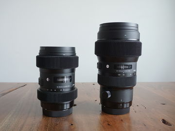 Rent: Sigma Art Zoom EF Set: 18-35 & 50-100 f/1.8 + ND + Gears