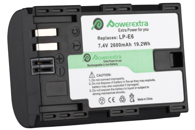 PowerExtra LP-E6 Replacement Battery
