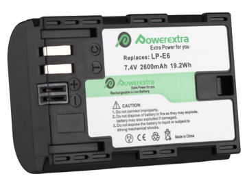 Rent: PowerExtra LP-E6 Replacement Battery