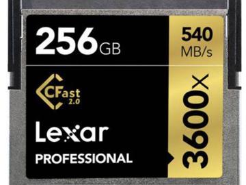 Rent: Lexar 256GB CFast 2.0 Card