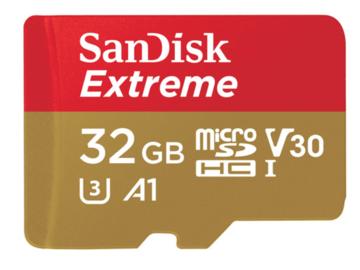 Rent: SanDisk 32GB Extreme UHS-I microSDHC Memory Card