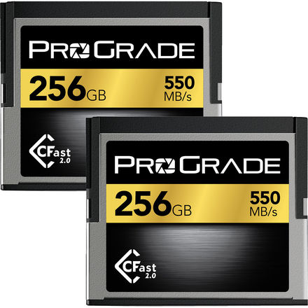 2x ProGrade Digital 256GB CFast 2.0 Card