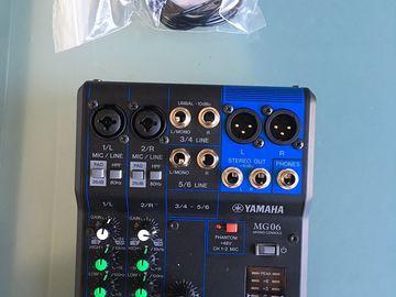 Rent: Yamaha MG06 6-Input Compact Stereo Mixer