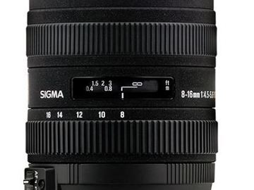 Rent: Sigma 8-16mm f/4.5-5.6 DC HSM Ultra-Wide Zoom Lens for Canon